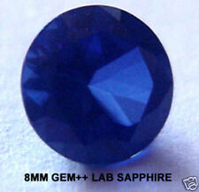 2.34ct 8mm BEST GEM++ RICH ROYAL BLUE Created SAPPHIRE