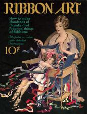 Ribbon Arts #3 c.1920 Color Sewing Instructions Flapper Era Ribbon Projects