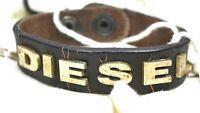 Diesel Unisex Armband ASITT  Bracciale Used look Neu Leder Leather