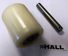 Nylon 82mm de diámetro x100mm Rodillo De Carga Carretilla Elevadora Manual + 20mm Rodamientos & Eje Pin