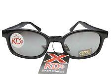 X KD's Sunglasses Original Biker Shades Motorcycle Black Silver Mirror 11010