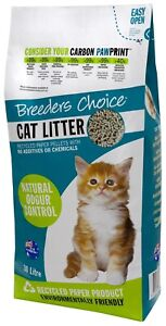 Breeders Choice Recycled Paper Cat Litter Pellets - 30 Litres
