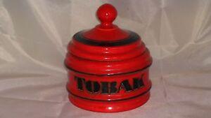 Retro 1970's Schramberger Majolika Ceramic Smoking Pipe Tobacco Jar