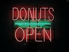"""New Donuts Open Light Lamp Neon Sign Pub Gift 20""""x16"""""""