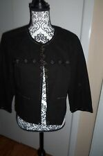 Chadwicks Women's  Jacket, size 14, black embellished with beads Excellent Cond