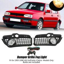 Car Fog Light Bumper Grille Wire Harness LED DRL For VW Jetta Golf Mk3 1992-1998