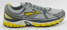 MENS BROOKS TRANCE 11 RUNNING SHOES SIZE 13 US 47.5 EU GRAY YELLOW WHITE