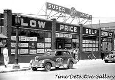 Vintage Taxi at A&P Supermarket, Durham, North Carolina - Vintage Photo Print