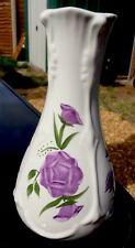Vintage Hand Painted Floral Art Vase Signed MB Royal Windsor Made in England