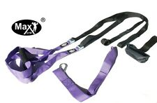 Oryginal Suspension MaxGym® trainer. Body Trainer. Duo Straps. Home Fitness purp
