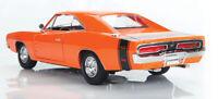 1969 DODGE CHARGER R/T ORANGE 1:18 DIECAST MODEL CAR BY MAISTO 31387