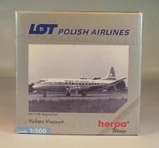 Herpa Wings 1/500 Vickers Viscount LOT Polish Airlines in O-Box #203