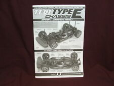A1A Tamiya RC Car Manual TT-01 Type E Shaft Driven 4WD Chassis FREE SHIPPING!!!