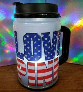 Victoria's Secret PINK Sparkly American Flag Light-Up Chug Mug Water Bottle