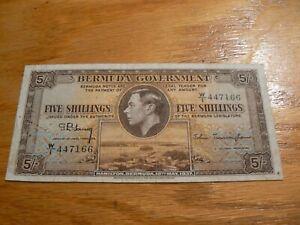 Bermuda 5 Shillings 12th May 1937 P8 W/1 Prefix (B) 100% to Charity