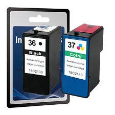 2 Ink Cartridges for Lexmark 36 &37 -X3650 X4650 X5650 X6650 X6675 Z2420