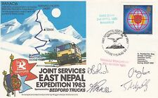 AC6aC Joint Services East Nepal Signed 4 Team Members  Flown Gatwick - Hong Kong