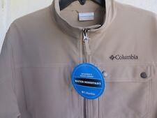NWT COLUMBIA Phoenix Park JACKET Water Resistant TAN Full Zip XO0035 Mens Medium