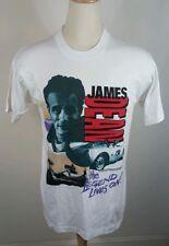Vintage James Dean T-shirt size L Rebel Racing Motorcycle Hollywood 1993