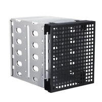 "Cage Tray Caddy Rack for 5x3.5"" SATA SAS HDD Hard Drive 3x 5.25"" size fan"