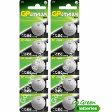 10 x GP CR2450 3V Lithium Coin Cell Battery 2450 DL2450