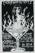 REVEREND HORTON HEAT 1996 TAMPA CONCERT TOUR POSTER - Psychobilly Country Music
