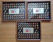Coca-Cola Olympic International Flag Pin Series 1984 Limited 3 Framed Sets of 50