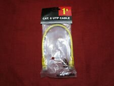 Cat6 Ethernet Patch Cable Network RJ45 Stranded UTP Crossover 24AWG 1' ft yellow