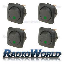 4x LED Verde Illuminato Rocker Interruttore ON/OFF 12 V 25 A LUCE Dash per Auto Furgone