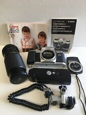 Canon Al-1 35mm Slr Film Camera Body Only For Parts + All Accessories Included