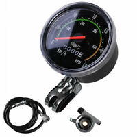Vintage Style Bicycle Speedometer Analog Mechanical Odometer With Hardware US