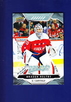 Braden Holtby 2019-20 Upper Deck UD MVP Hockey #89 (MINT) Washington Capitals