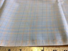 BLUE & PEACH PLAID COTTON-60 INCH WIDE- BY THE YARD