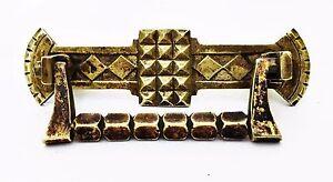 "Brass Art Nouveau Victorian Eastlake Antique Hardware Drawer Pull 3""center"