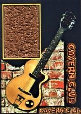 Beatles George Harrison  Cavern Club Brick Display with Guitar Pick and Stand