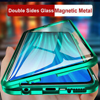 For Samsung S21 Ultra S20 FE A21S A51 A71 360 Magnet Adsorption Glass Case Cover