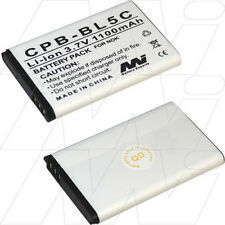 3.7V 1.1Ah Replacement Battery Compatible with Nokia BL-5C