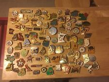Huge Lot of 96 Lion's Club Pins, Lioness, Leo's,
