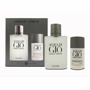 Giorgio Armani Acqua di Gio 100ml EDT Spray 75g Deodorant Stick Set Damaged Box