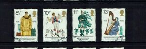GREAT BRITAIN  1976 CULTURAL TRADITIONS SG1010/13 USED SET