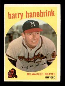 1959 Topps Set Break # 322 Harry Hanebrink EX-MINT *OBGcards*