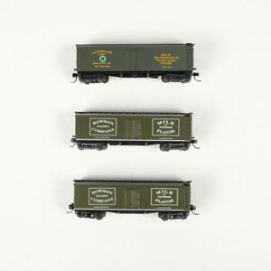 Lot of 3 Athearn 40' Wood Reefer Dairy Milk Cars Bowman & Cloverland N Scale