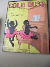 New ListingGold Dust Twins Sheet Music.Black Americana
