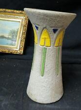 "perfect Roseville art pottery vase 10 1/4"" MOSTIQUE VASE #164 / stylized tulips"