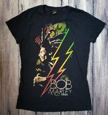 Bob Marley Womens T-Shirt Black Size Large L Zion Rootwear