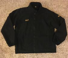 Jack Wolfskin Men's Size 3XL XXXL Black Full Zip Mock Neck Waterproof Jacket