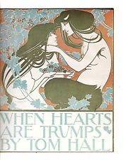 """Unframed Vintage Book Cover Poster Art """"Lovers When Hearts are Trumps"""" (m581)"""