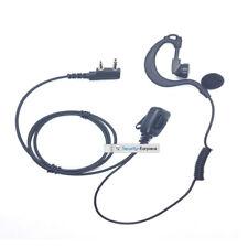 Security G Shape 2 Pin Headset Earpiece Mic For Mitex Radio Walkie Talkie HQ PTT