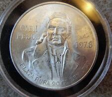 1978 Mexican Silver 100 Cien Pesos Commemorative BU Coin,   0.720  OZ.  -   (MK)