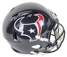 Texans DeAndre Hopkins Authentic Signed Full Size Speed Rep Helmet JSA Witness